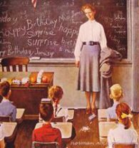 Norman Rockwell. Teachers birthday (1956)