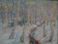 Emil Nolde. Big Trees in the Snow. Museu Kunstalle Hamburg. per a Rilke-2