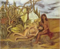 rida Kahlo. Two nudes in the forest (the earth itself). (1939)