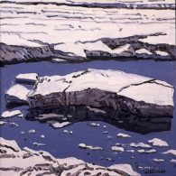 Neil-Welliver_study-for-ice-flow-allagash_1996